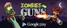 Zombies and Guns Small Banner