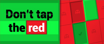 Don´t Tap The Red Small Banner