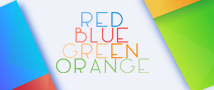 Red Blue Green Orange Small Banner